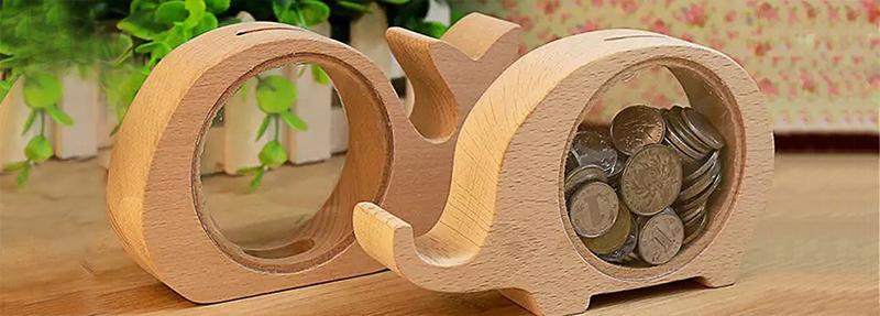 meilleure tirelire en bois