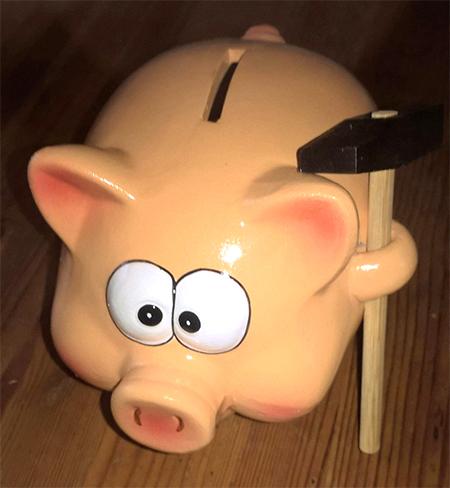 cochon rose a casser de taille xxl