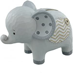 tirelire grise elephant