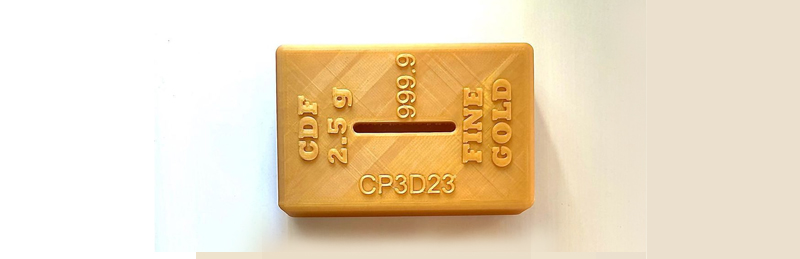 tirelire en forme de lingot d'or