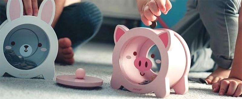 tirelire cochon transparent